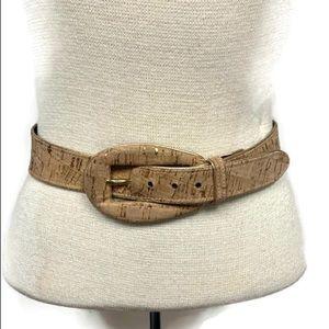 Oscar De la Renta Vintage Cork and Gold Belt